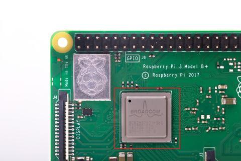 Das neue SOC (CPU und GPU) auf Raspberry Pi 3 Model B+