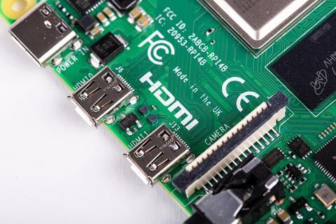 Raspberry Pi 4 HDMI-Anschlüsse über HDMI Typ D
