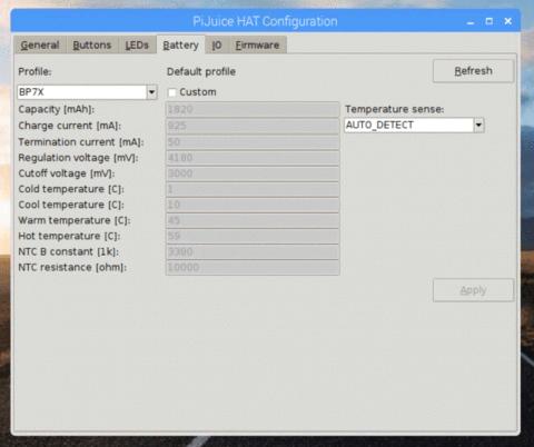 Konfiguration einer Li-Po Batterie für PiJuice HAT