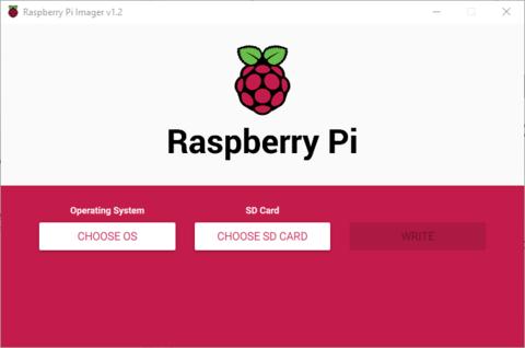 Choose os raspberry Pi imager
