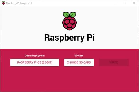 chose sd raspberry pi imager