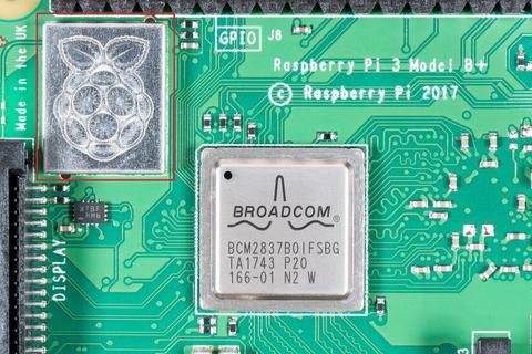 Der WLAN-Chip auf Raspberry Pi 3 Model B+