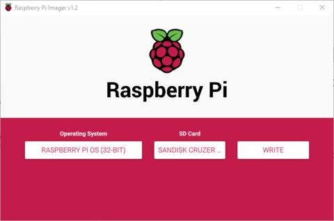 write raspberry Pi imager